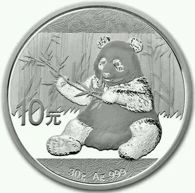 2017 Chinese Panda 30g Silver Coin (New Release Mid-December)