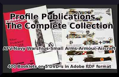 Profile Publications Military Collection ~ 400 Historical Military Books 5 DVDs