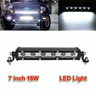 New 18W Slim LED Work Light Bar Offroad Spot Fog ATV SUV Driving Lamp 7 inch US