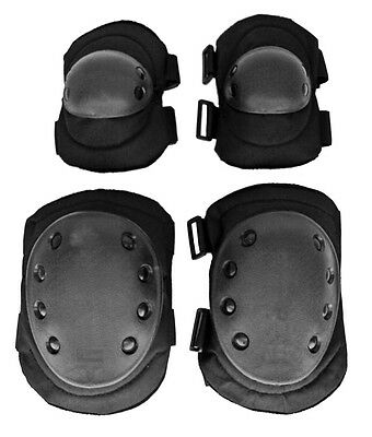 Advanced Tactical Elbow and Knee Pads Duty Gear Military Field Gear Pads Black*