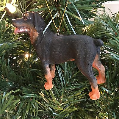 Rottweiler Dog Ornament Standing