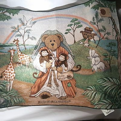Boyd's Bears & Friends Large Tapestry Rug Wall Hanging Nosh's Ark Design SP1179