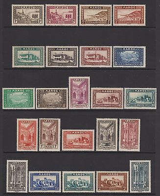 French Morocco - SG 169/92 - m/m - 1933/4 - 1c - 20f - 23 stamps