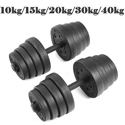 15 20 30 40KG Dumbbells Set Gym Weights Biceps Workout Exercise Training Fitness
