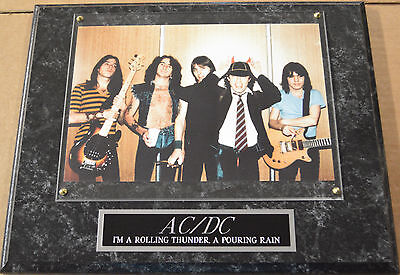 #1 FAN AC/DC FRAMED 8 X 10 PHOTO 12 X 15 WALL PLAQUE cd album POSTER SIGN