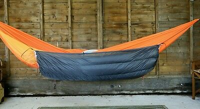 Hammock underquilt, down 650fp ultralight ripstop backpacking UK made
