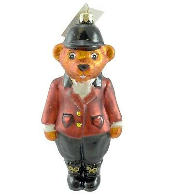 Christopher Radko | TALLY HO BEAR Blown Glass Ornament *BRAND NEW* RARE RETIRED