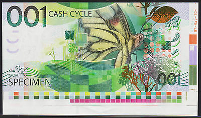 "Test Note KBA GIORI Switzerland - ""Cash Cycle 001"" - with CORNER border piece"
