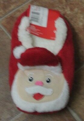 New unisex Santa soft gripper feet slippers red 12.5-3.5