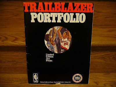 1978 Portland Trailblazers NBA Eleven 11 Collector Prints  Trailblazer Portfolio