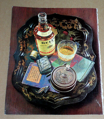 BELL's Whisky - TRAY - ORIGINAL DRINKS POSTER VINTAGE ADVERT 1990
