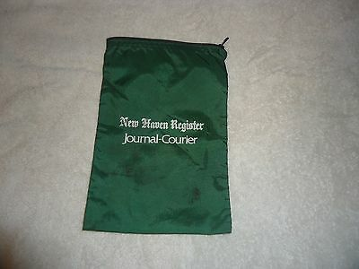 Vintage NEW HAVEN REGISTER - JOURNAL-COURIER Carrier Canvas coin-Bag Rare