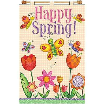 Happy Spring Jeweled Banner Kit-16 Inch X 24 Inch 021465041278