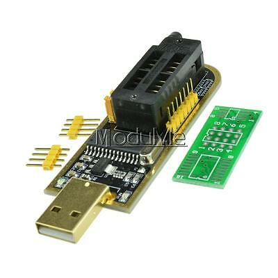 Black CH341A Series 24EEPROM BIOS Writer 25 SPI routing LCD Flash USB Programmer