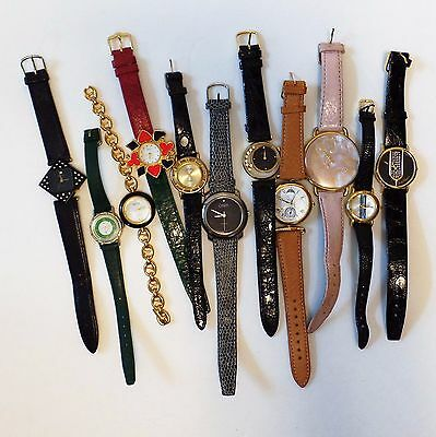 Junk Drawer Job Lot Of Wrist Watches 80s Casual Fashion For Parts Untested