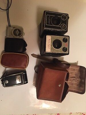 Kodak Brownie D Flash 3 Leningrad 4 Agfalux Camer Light Meter Retro