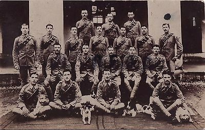 Soldier Group Royal Inniskilling Fusiliers RIF India & an array of Pet Dogs