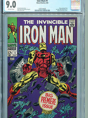 Iron Man #1 (Marvel 1968) CGC Universal Grade Certified 9.0 Off-White Pages