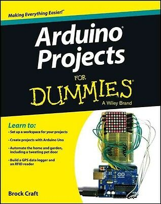 Arduino Projects For Dummies by Brock Craft Paperback Book (English)