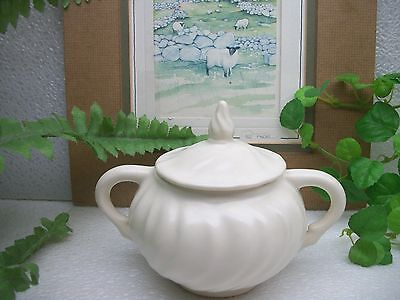 Vintage  Franciscan China  CORONADO  Off White Matte  Covered Sugar Bowl  USA