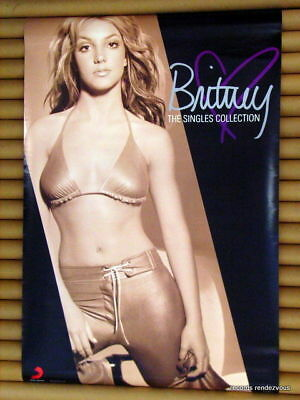 Britney Spears Singles Collection Promo Poster *Rare Official Original Hong Kong