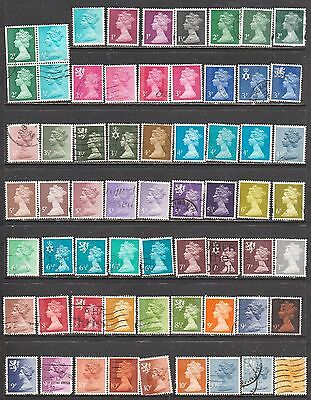 Great Britain - Machins All Different With Variations Used See 3 Scans