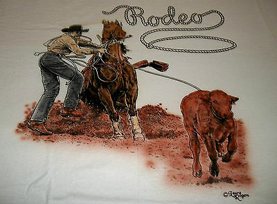 """Rodeo Lovers T-shirt  """" White """"  Large ( 42 - 44 )"""