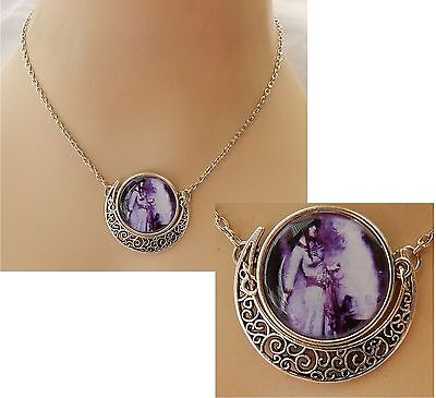 Silver Moon Spell Caster Pendant Necklace Jewelry Handmade NEW Wiccan Witch