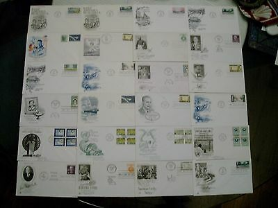 Lot (24) Vintage 1960's First Day of Issue Covers Original NASA Gandhi Christmas