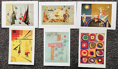 Lot Of 6 Postcards Of Paintings By Wassily Kandinsky