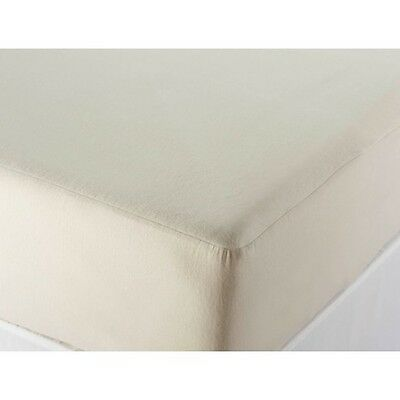 Cotton Flannel Waterproof Mattress Protector Cot Cotbed Single Double KingLuxury