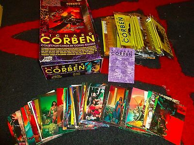 RICHARD CORBEN COLLECTOR - Complete 90 Trading Card Set W/ BOX Comic Images 1993
