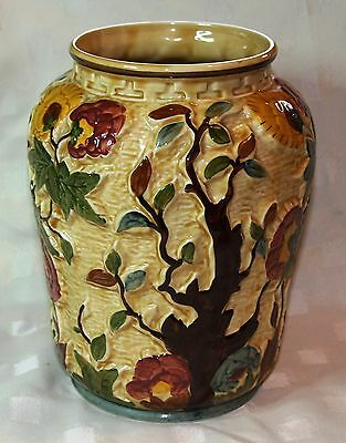 H.j Wood Staffordshire Indian Tree Hand Painted Large Vase - Free Post