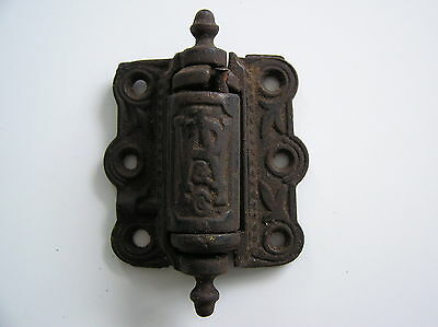 1 Antique Sreen Door Hinge Spring Loaded Self Closing Cast Iron