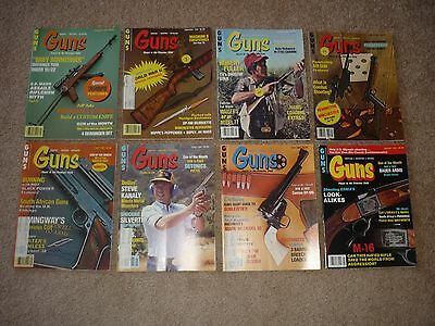 8 Issues of Guns Magazines, Hunting Shooting 1981