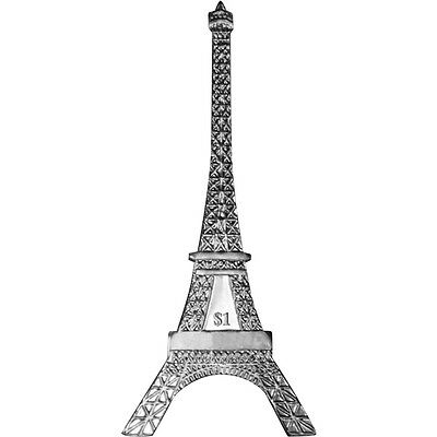 British Virgin Islands The Eiffel Tower 2014 Unc Proof Sterling Silver $1 Coin