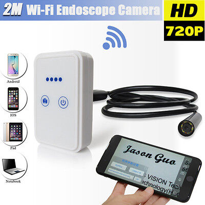 Wifi Wireless For iOS Android Endoscope HD 2.0MP 9mm 1/1.5/2m Inspection Camera