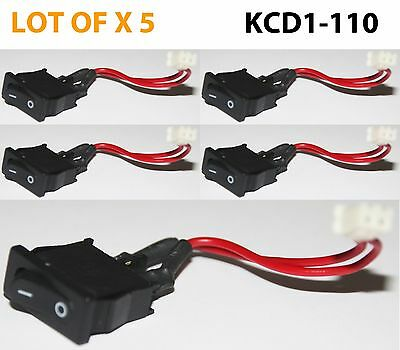 5Pcs Mini Rocker Switch Panel Mount 6A 125V AC ON/OFF  KCD11