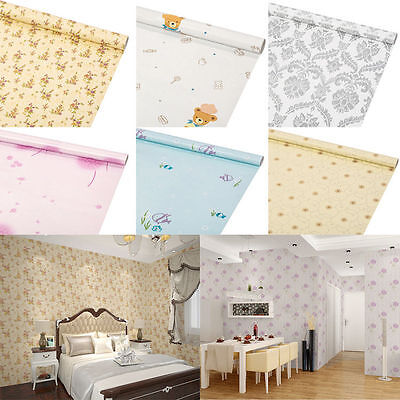 Self-adhesive Damask Wallpaper Stickers Multi-style Bedroom Background Modern 1M