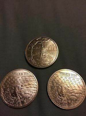 3 x troy ounce bullion/coins .999 Crescent City Silver *Wake Up/Bankster Justice