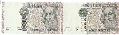 2 Bank Of Italy 1000 Lire Notes Marco Polo