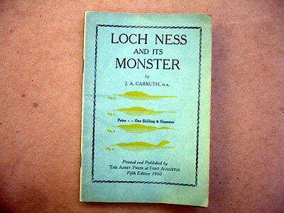 1960 BOOKLET~LOCH NESS AND ITS MONSTER~CARRUTH~5th EDITION~ILLUSTRATED~USED