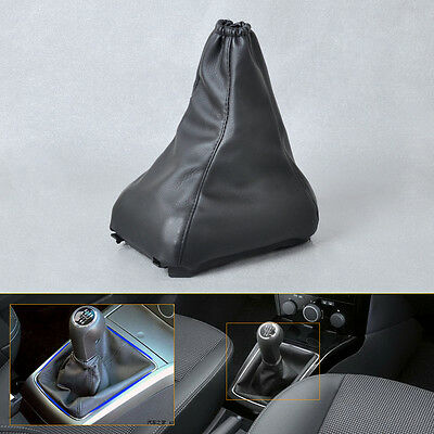 Black PU Leather Gear Boot Gaiter Cover fit 2004-08 Vauxhall / Opel ASTRA MK5 H