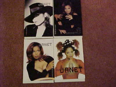 Rare Janet Jackson Stickers from 1999 (Set of Four) New