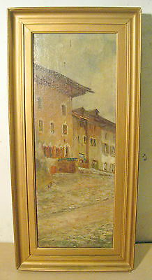 Listed COLIN CAMPBELL COOPER European Street OIL PAINTING Impressionist SIGNED