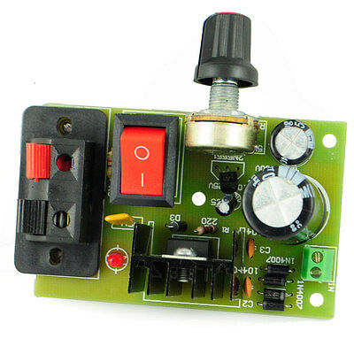 DC 5~35V LM317 Adjustable Power Supply Module Circuit Boards DIY - Blue