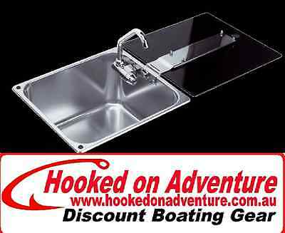 Sinks Galley CAN® Stainless Steel Sinks with Glass Lid and Folding Tap