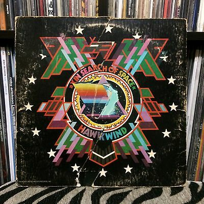 Hawkwind X In Search Of Space Stereo LP AUTOGRAPHED By Nik Turner (1972)