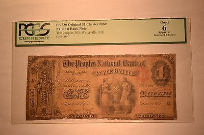 Waterville, ME - $1 Original Fr. 380 The Peoples NB Ch. # 880. PCGS Apparent G-6