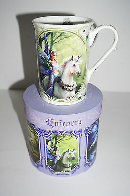 Anne Stokes Coffee Mug Cup bone China Gothic Realm of Enchantment Fairy Unicorn